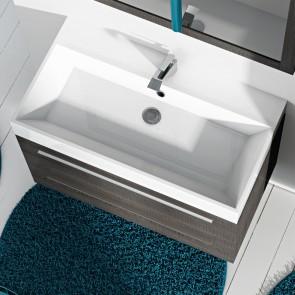 Piano lavabo acrilico bianco 90 cm