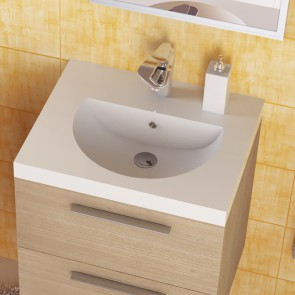 Piano lavabo acrilico bianco 53cm