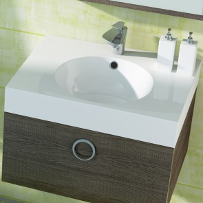 Piano lavabo acrilico bianco 60cm