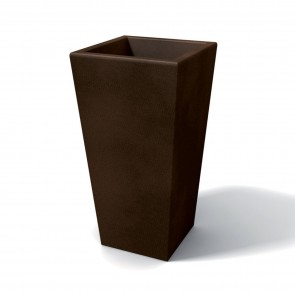 Vaso moderno in resina rettangolare H 90 bronzo modello Egizio