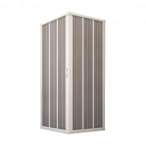 Box Doccia in PVC 100x100CM H185 a soffietto con Apertura Centrale colore Bianco mod. Flex