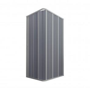 Box Doccia in PVC 100x100CM H185 a soffietto con Apertura Laterale colore Bianco mod. Flex