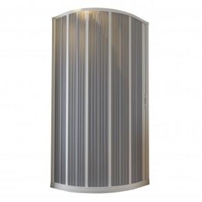 Box Doccia in PVC 100x100CM H185 a soffietto Semicircolare con Apertura Laterale colore Bianco mod. Flex