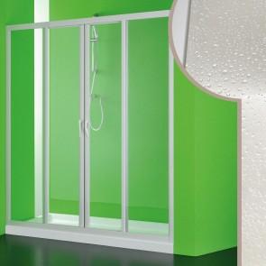 Porta doccia in Acrilico mod. Mercurio 2 con apertura centrale