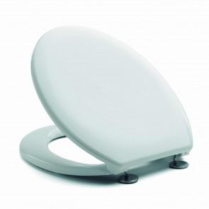 Sedile Wc Copriwater Copriasse Bianco mod. Neu Europa Inox