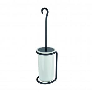 Porta Scopino da terra in acciaio e ceramica mod. Rebecca