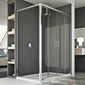 Replay Duo 2 Türen Duschkabine 130x90 CM H185 Klarglas