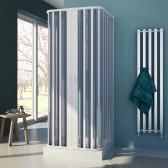 3-seitige Duschkabine in PVC mod. Nova mit zentraler Öffnung