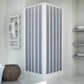 Duschkabine in PVC mod. Energy mit zentraler Öffnung