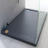Duschwanne 110x80x4 Acryl Rechteckig Mod. Stone UltraSlim