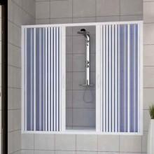 Porta doccia sopravasca 150 CM in PVC mod. Nina con apertura centrale