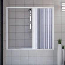 Porta doccia sopravasca 150 CM in PVC mod. Nina con apertura laterale