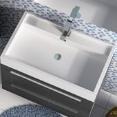 Piano lavabo in resina 80cm Lisbona 1