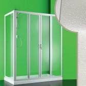 Cabine douche 90x150 CM en acrylique mod. Mercurio 2 avec ouverture centrale