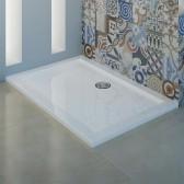 Receveur de douche acrylique avec bordures blanc brillant mod. Flower