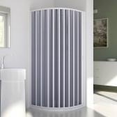 Cabine douche demi-circulaire en Plastique pvc mod. Sharp avec l'ouverture latérale