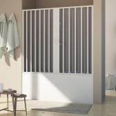 Porta doccia sopravasca in PVC mod. Delfi con apertura centrale