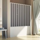 Porta doccia sopravasca in PVC mod. Delfi con apertura laterale