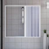 Porta doccia sopravasca in PVC mod. Nina con apertura laterale
