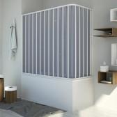Box doccia sopravasca in PVC mod. Santorini con apertura laterale