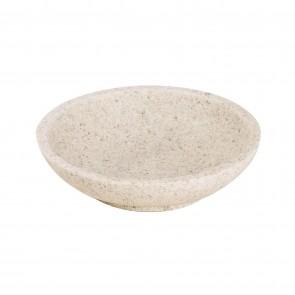Porta Sapone Da Appoggio col. sabbia in poliresina mod. Afra