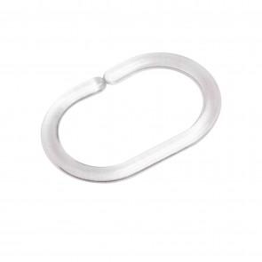Kit 6 anelli doccia trasparenti