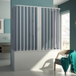Box doccia 3 lati sopravasca in PVC mod. Muse con apertura centrale