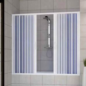 Porta doccia sopravasca in PVC mod. Nina con apertura centrale