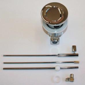 Sifone in ottone con sistema di apertura a saltarello