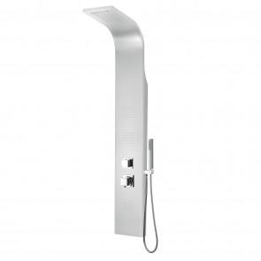 Colonna idromassaggio in alluminio Curva 140x20 CM con waterfall mod. Niagara