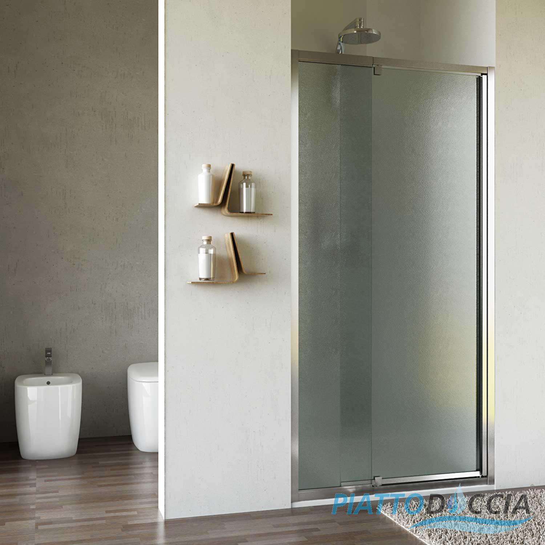 Box cabina doccia nicchia parete porta bagno cristallo battente da 65cm a 115cm ebay - Porta cabina doccia ...