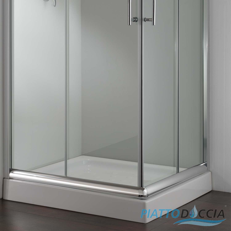Cabine de douche paroi douche 75x75 h185 cm verre for Fenetre 75x75