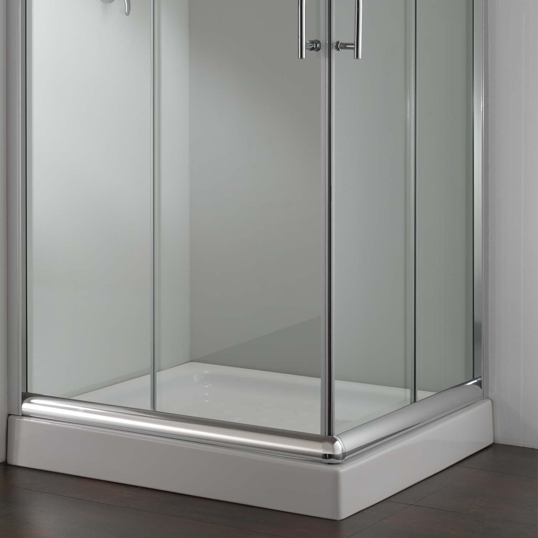 duschkabine duschabtrennung 75x75 h185 echtglas duschwand klarglas glas 8056732470453 ebay. Black Bedroom Furniture Sets. Home Design Ideas