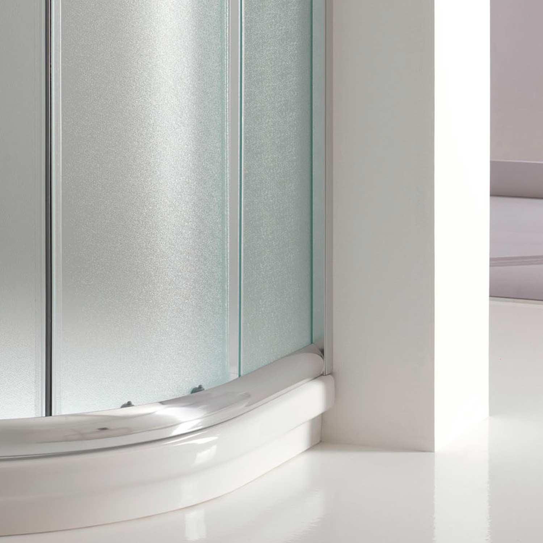 duschkabine duschabtrennung 80x80 h185 echtglas matt glas viertelkreis rund 8056732470309 ebay. Black Bedroom Furniture Sets. Home Design Ideas