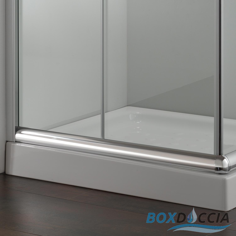 Duschkabine duschabtrennung 75x75 h185 echtglas duschwand for Fenster 75x75