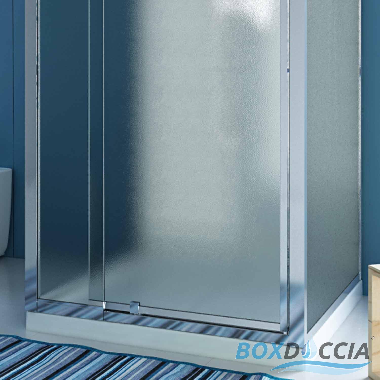duschkabine duschabtrennung u form matt glas pendelt r 2 seitenw nden 70x90 h185 ebay. Black Bedroom Furniture Sets. Home Design Ideas