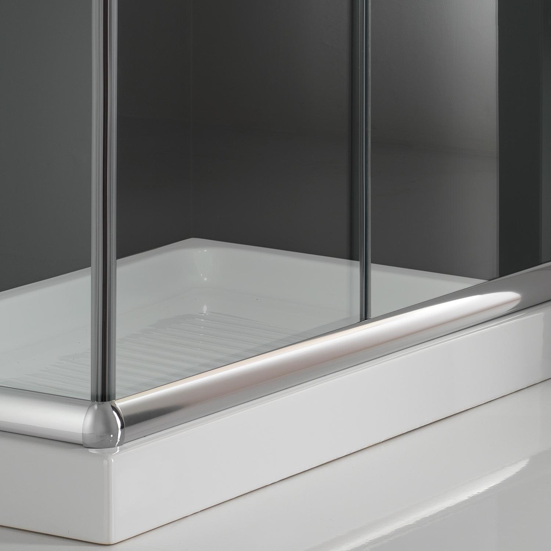 duschkabine duschabtrennung 75x75 h185 echtglas duschwand klarglas glas ebay. Black Bedroom Furniture Sets. Home Design Ideas
