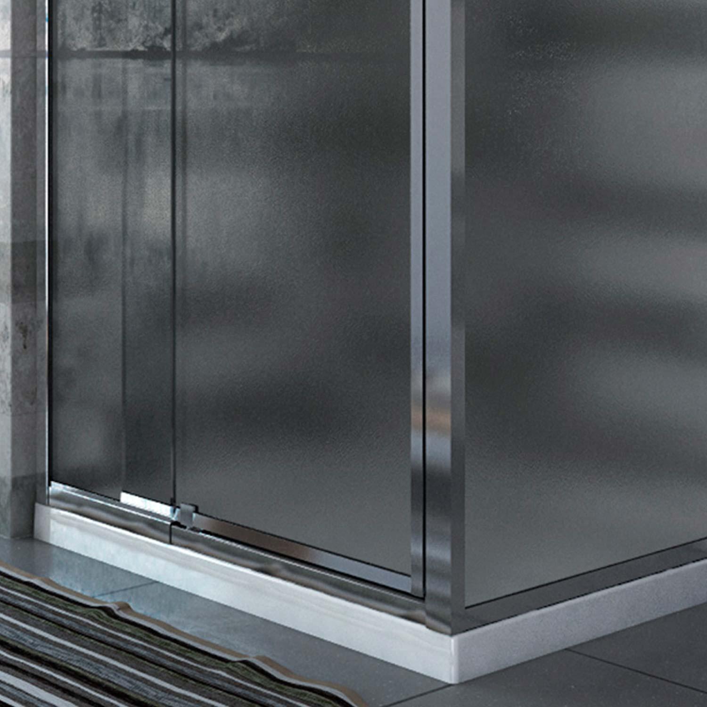 Duschkabine duschabtrennung echt glas pendelt r seitenwand for Fenster 70x90