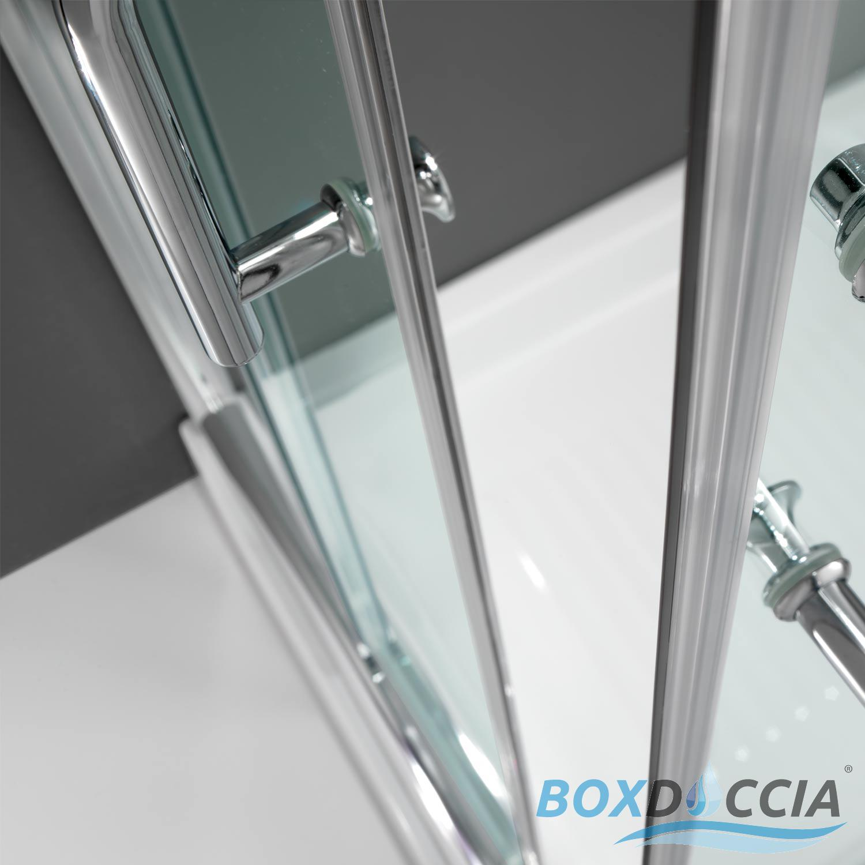 Duschkabine duschabtrennung 70x70 h200 echtglas duschwand for Fenster 70x70