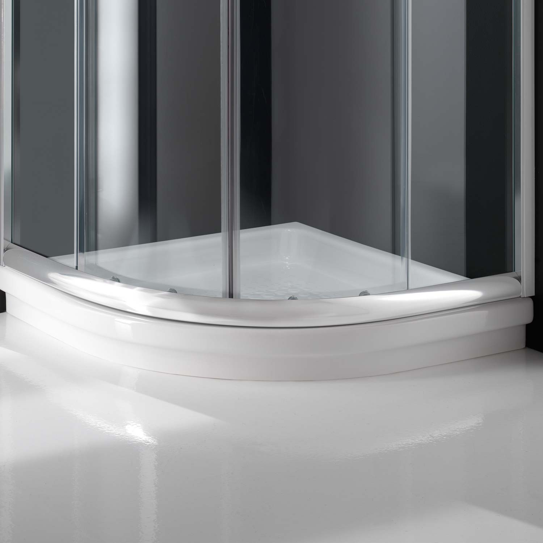 duschkabine duschabtrennung 80x80 h200 echtglas klarglas glas viertelkreis rund ebay. Black Bedroom Furniture Sets. Home Design Ideas