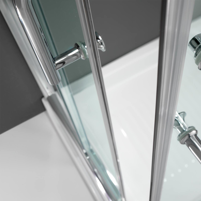 Cabine de douche paroi 90x90 h200 cm verre transparent for Fenetre 90x90
