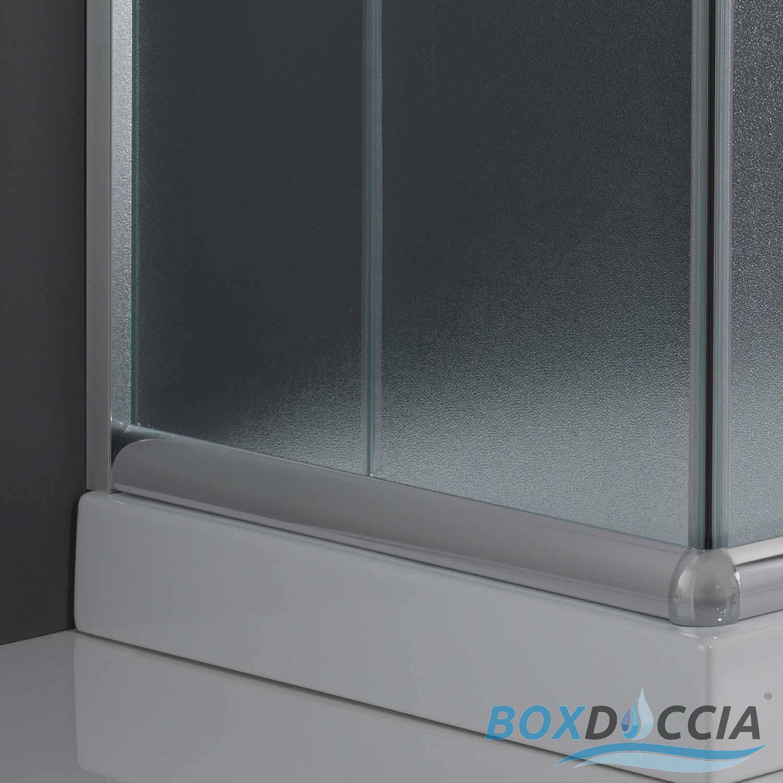 duschkabine duschabtrennung 80x80 h185 echtglas duschwand matt glas schiebet r ebay. Black Bedroom Furniture Sets. Home Design Ideas