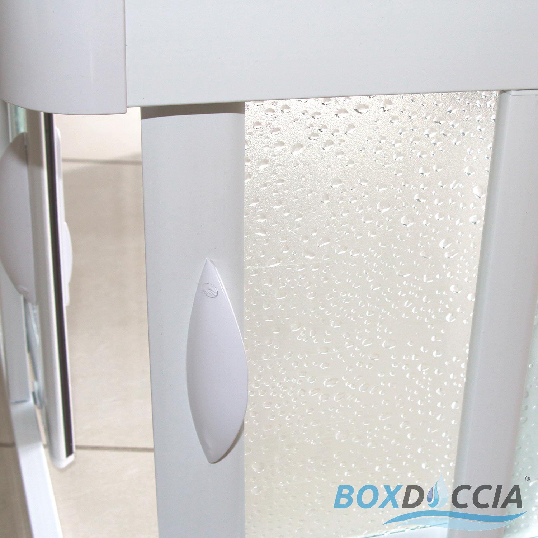 cabine de douche angulaire en pvc crilex acrylique 2 portes coulissantes ebay. Black Bedroom Furniture Sets. Home Design Ideas