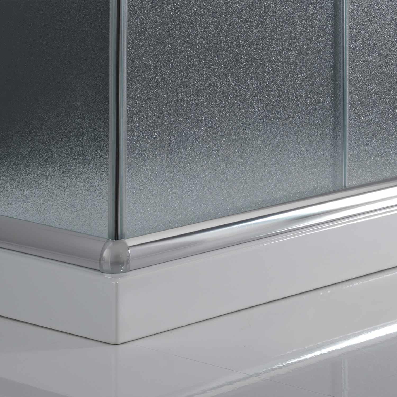 cabine de douche paroi de douche 100x70 h200 cm verre opaque angulaire alabama ebay. Black Bedroom Furniture Sets. Home Design Ideas
