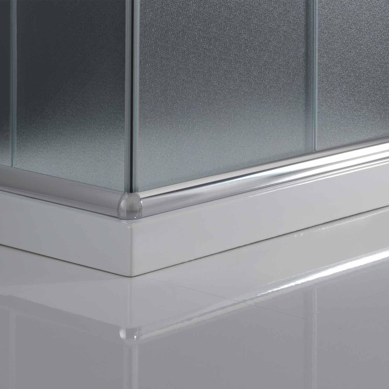 duschkabine duschabtrennung 75x75 h185 echtglas duschwand. Black Bedroom Furniture Sets. Home Design Ideas