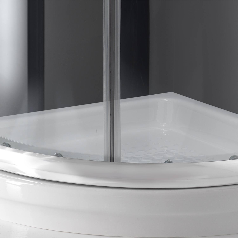 duschkabine duschabtrennung 90x90 h185 echtglas klarglas glas viertelkreis rund ebay. Black Bedroom Furniture Sets. Home Design Ideas