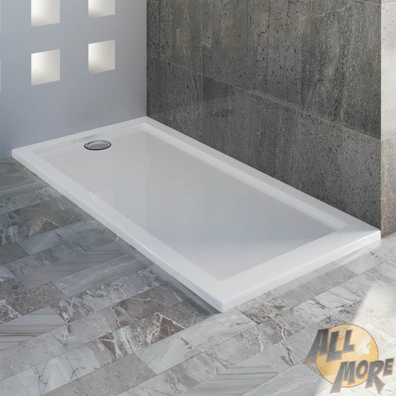 Receveur Plateau Bac Douche 70×140 Cm Blanc Acrylique Rectangle
