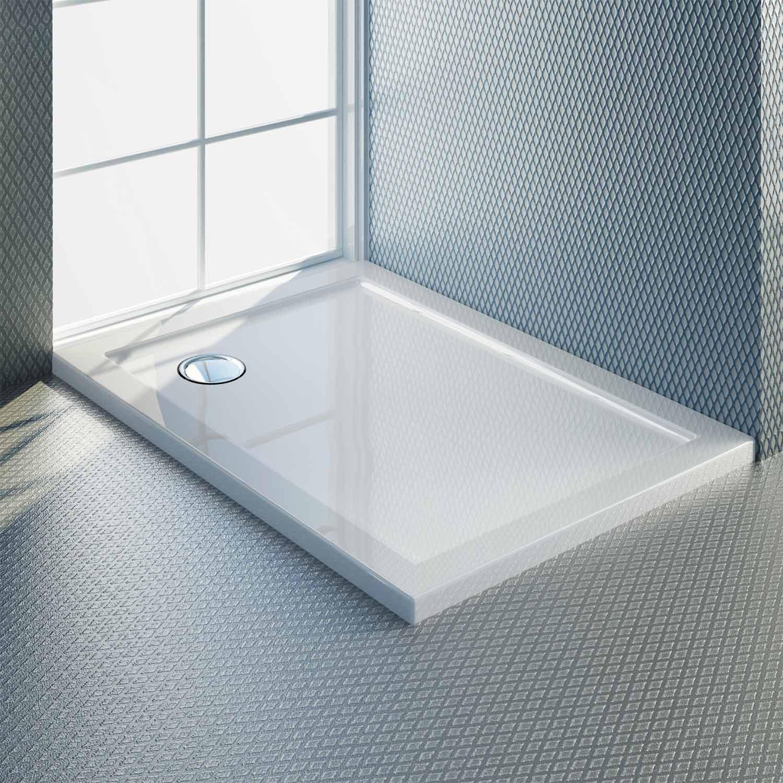 receveur plateau bac douche 80x100 cm blanc acrylique rectangle angle angulaire ebay