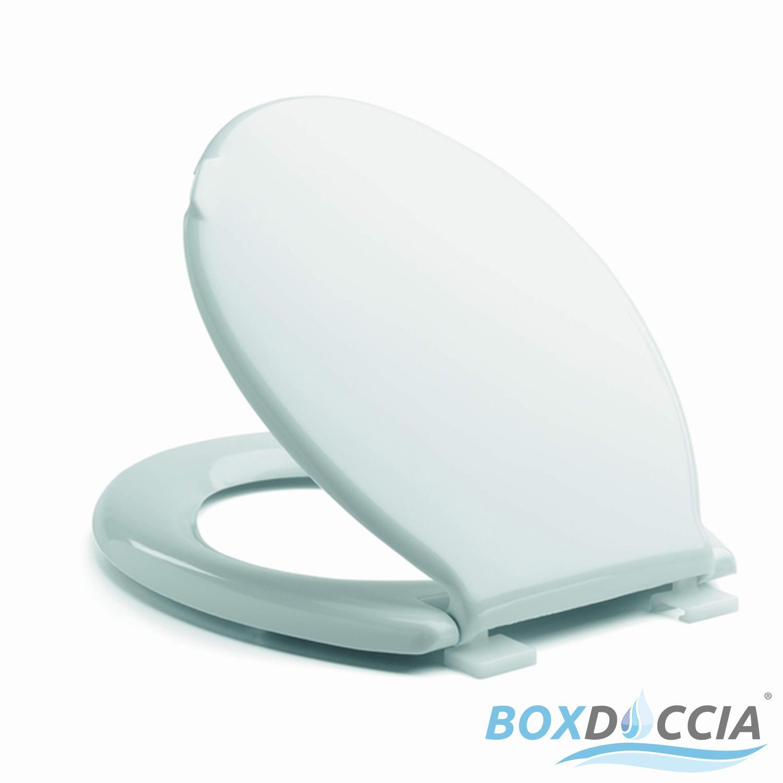 Pagette wc siège exclusivement blanc en acier inoxydable charnière couvercle de toilettes siège de toilettes