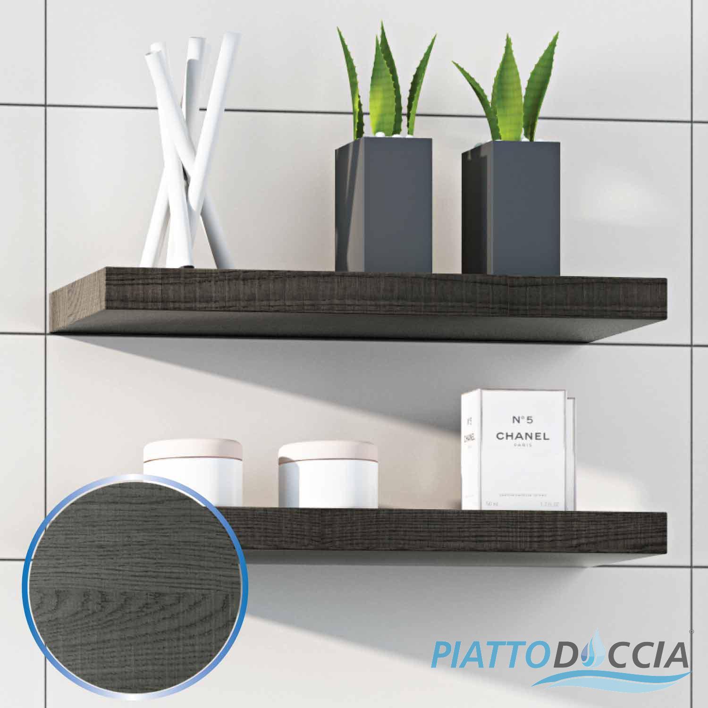 Mensola 50x4 design muro arredo bagno mobile da cameretta moderna legno 4 colori ebay - Mensole bagno design ...
